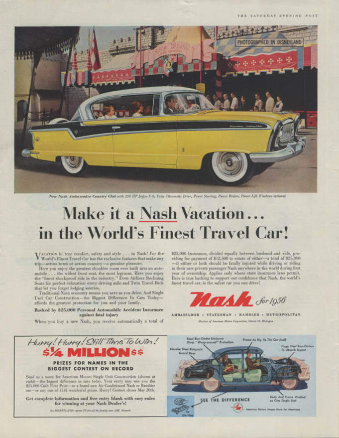 Image for Make it a Nash Vacation in the World's Finest Travel Car! Ad 1956