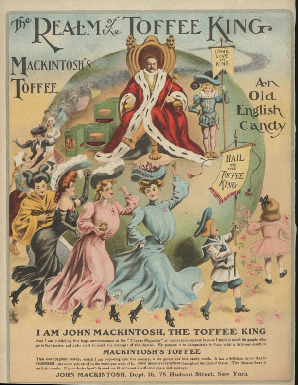 Image for Realm of the King Mackintosh's Toffee Old English Candy ad 1904 girl parade