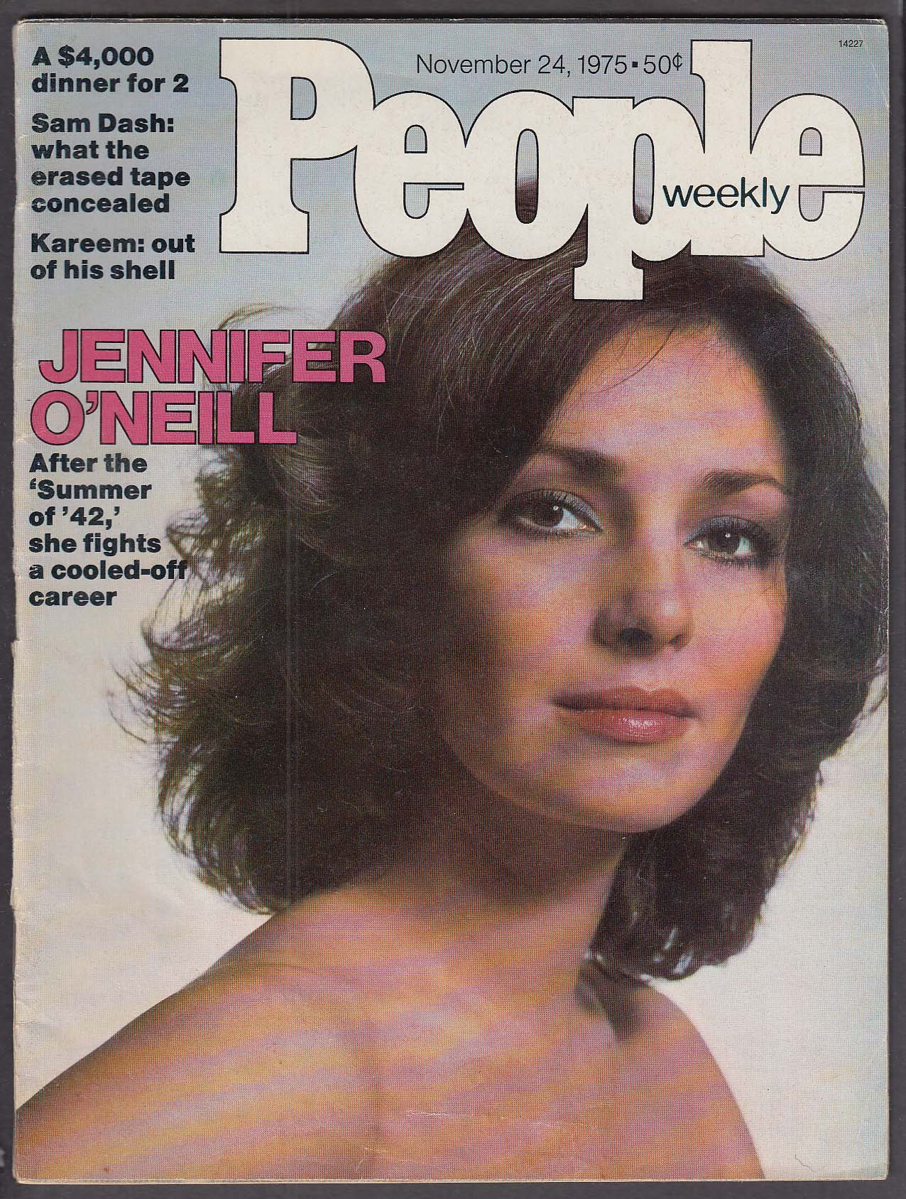 Image for PEOPLE Weekly Jennifer O'Neill Kareem Abdul Jabbar 11/24 1975