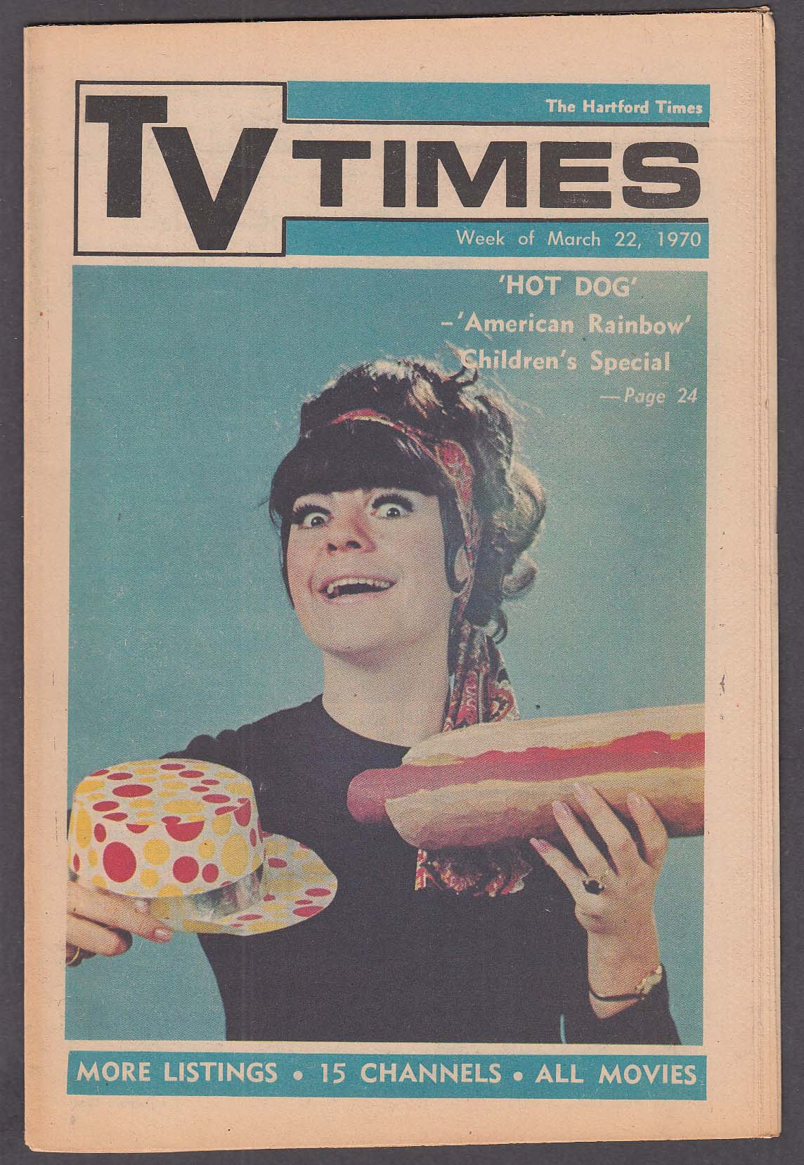 Image for TV TIMES Jo Anne Worley Hot Dog 3/22 1970