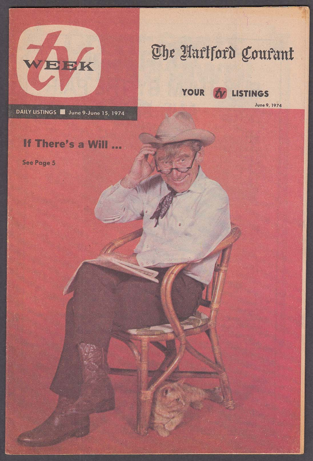 Image for TV WEEK James Whitmore as Will Rogers Hartford Courant 6/9 1974