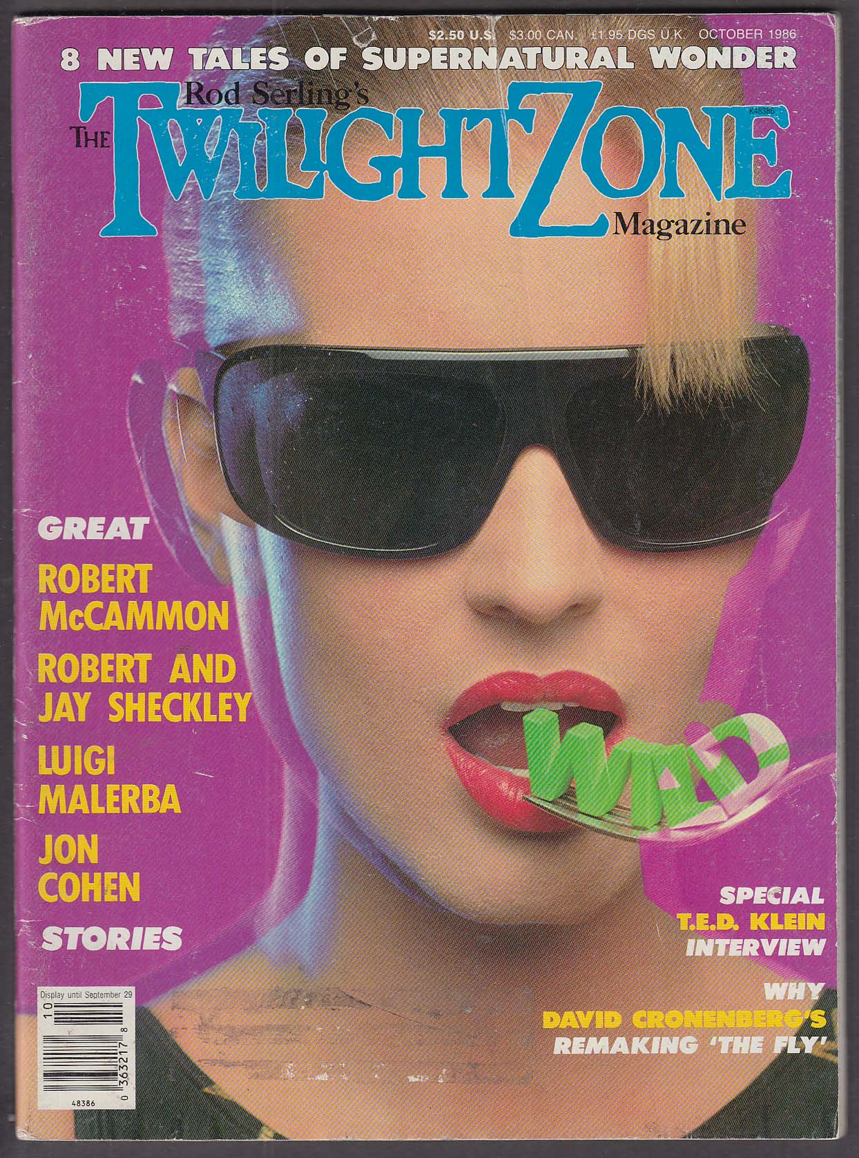 Image for TWILIGHT ZONE Cronenberg The Fly Robert McCammon Sheckley Malerba ++ 10 1986