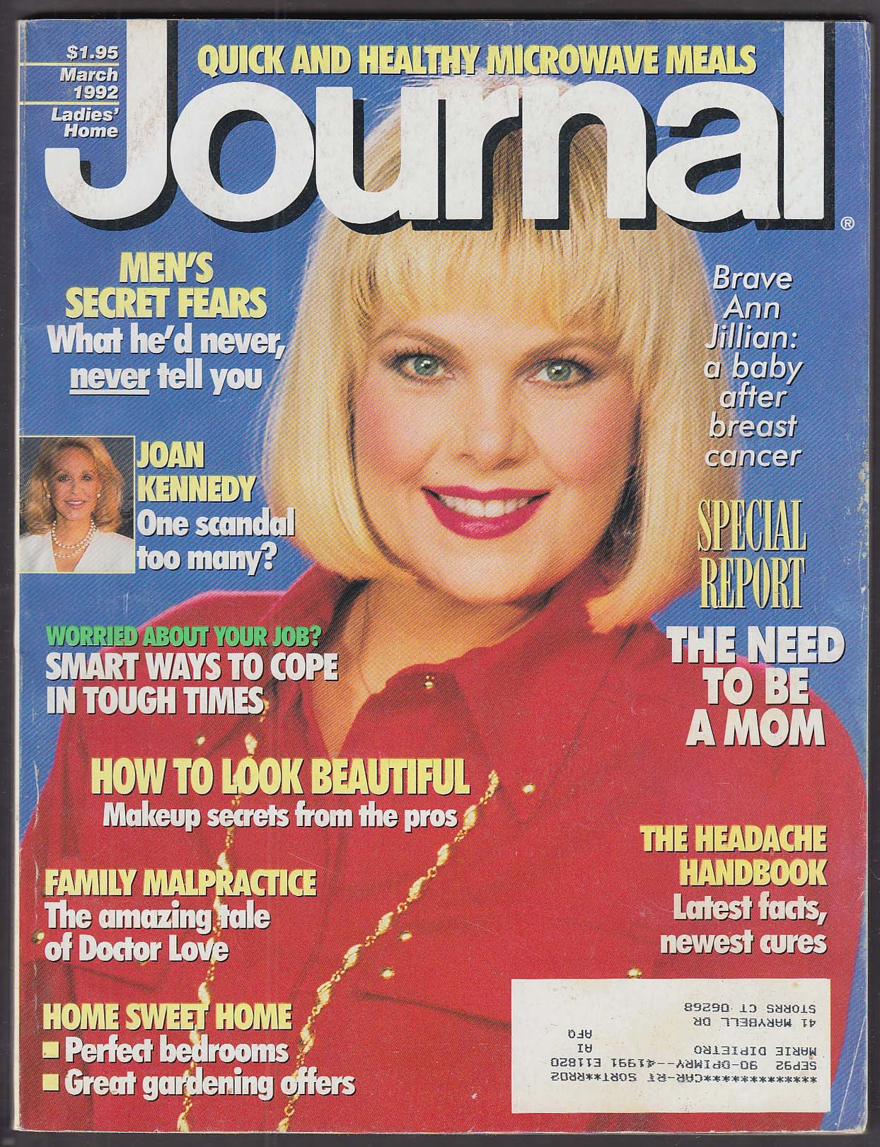 Image for LADIES' HOME JOURNAL Ann Jillian Joan Kennedy 3 1992