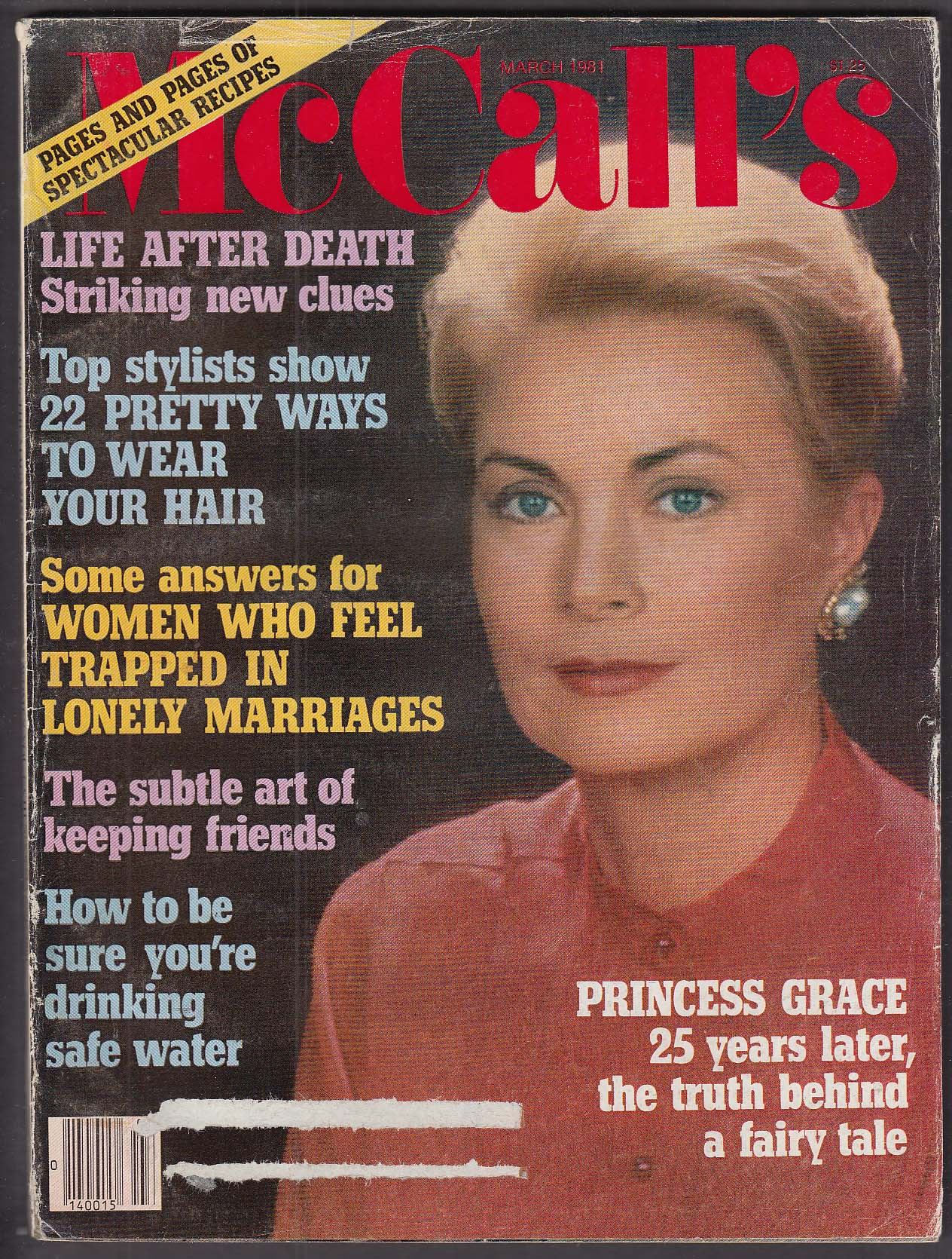 Image for McCALL'S Princess Grace Kelly; Life After Death? 3 1981