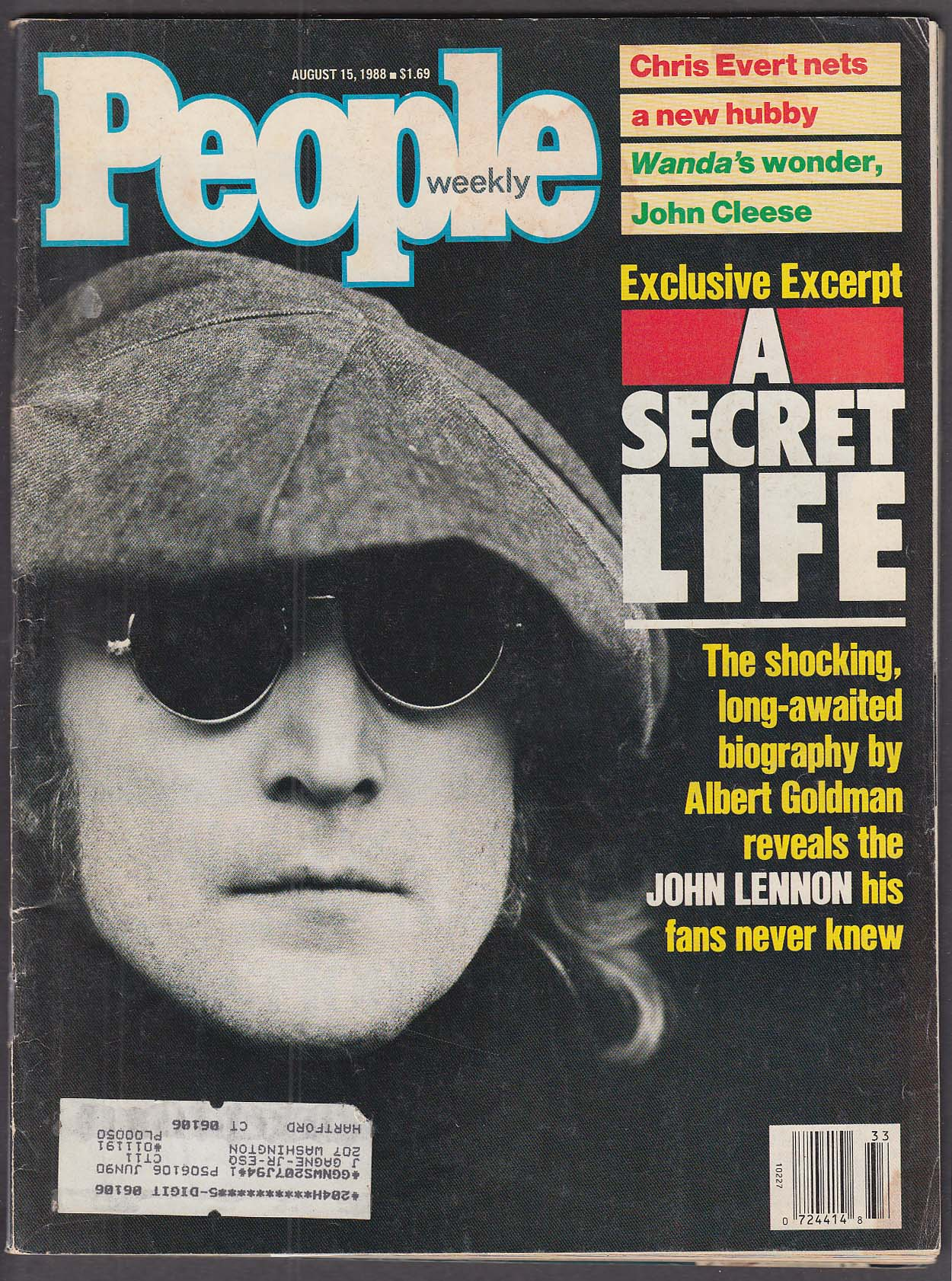 Image for PEOPLE John Lennon John Cleese Chris Evert 8/15 1988