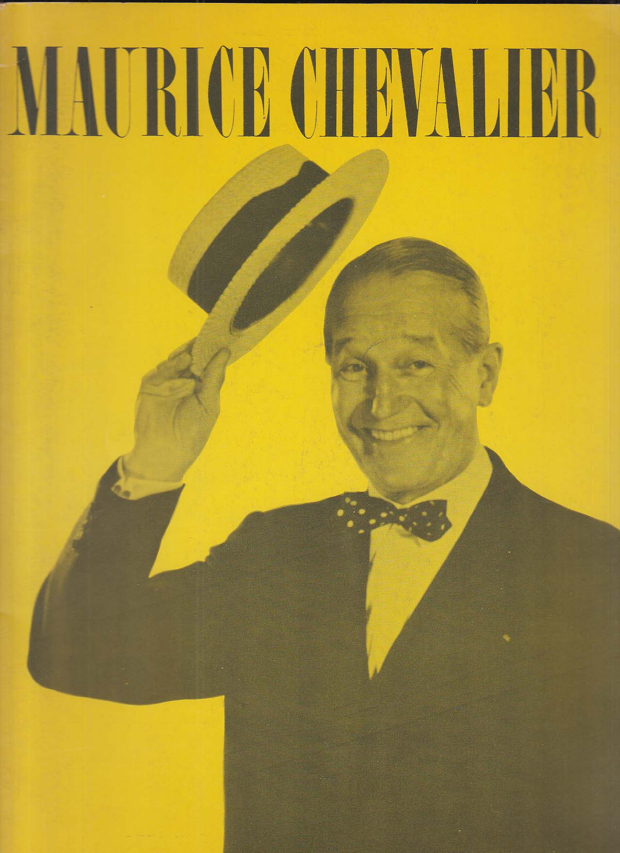 Image for Maurice Chevalier performance program 1960s