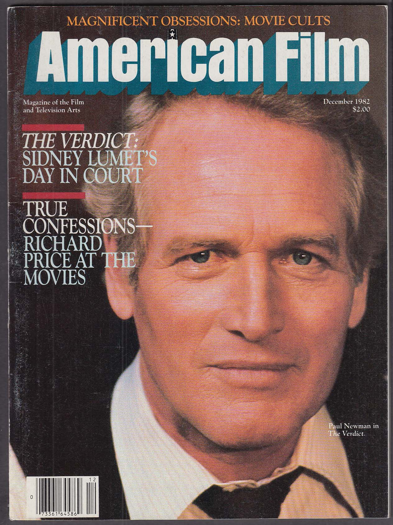 Image for AMERICAN FILM Paul Newman The Verdict Richard Price at the Movies 12 1982