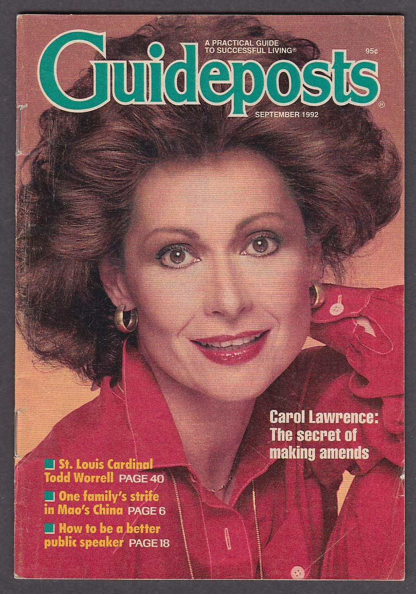 Image for GUIDEPOSTS Carol Lawrence Todd Worrell 9 1992
