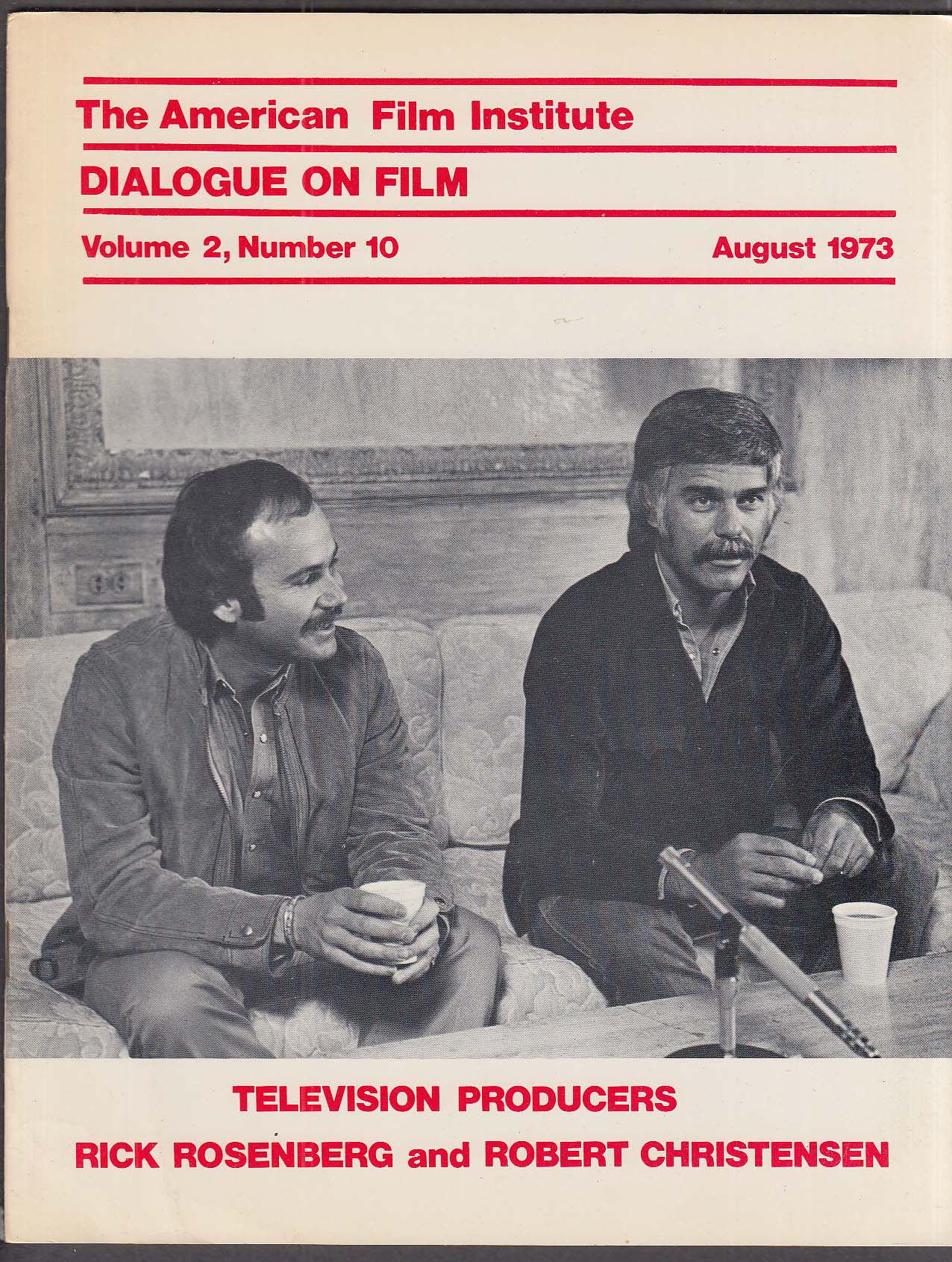 Image for DIALOGUE ON FILM Paul Mazursky Paul Morrissey American Film Institute 11 1974