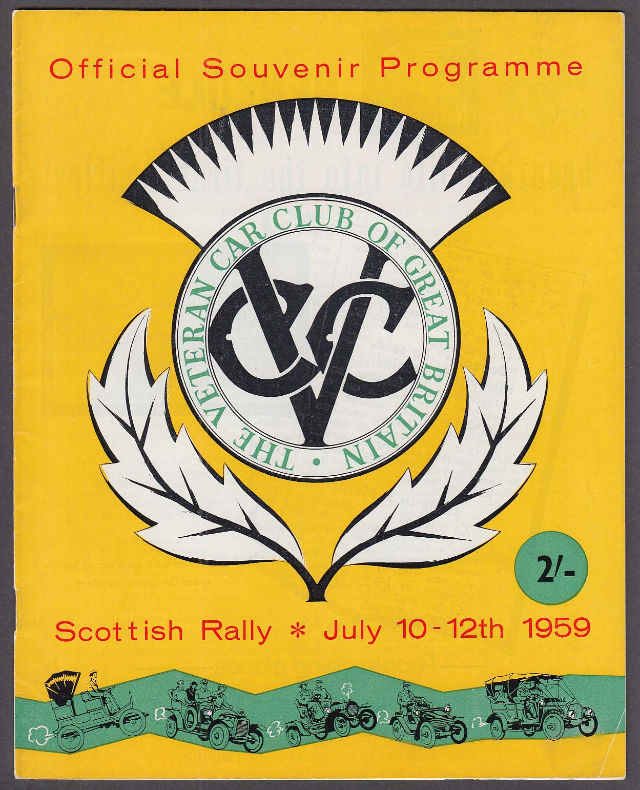Image for Scottish Rally Great Britain Program 7/1959