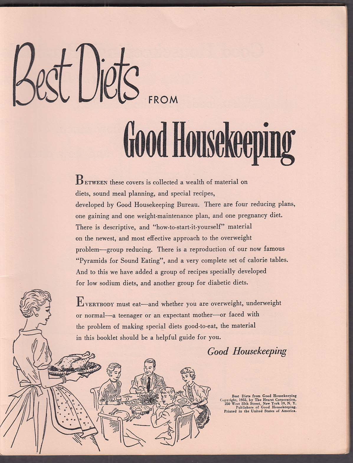 Image for Best Diets from Good Housekeeping 1955 booklet