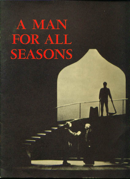 Image for Man for All Seasons touring company program 1960s