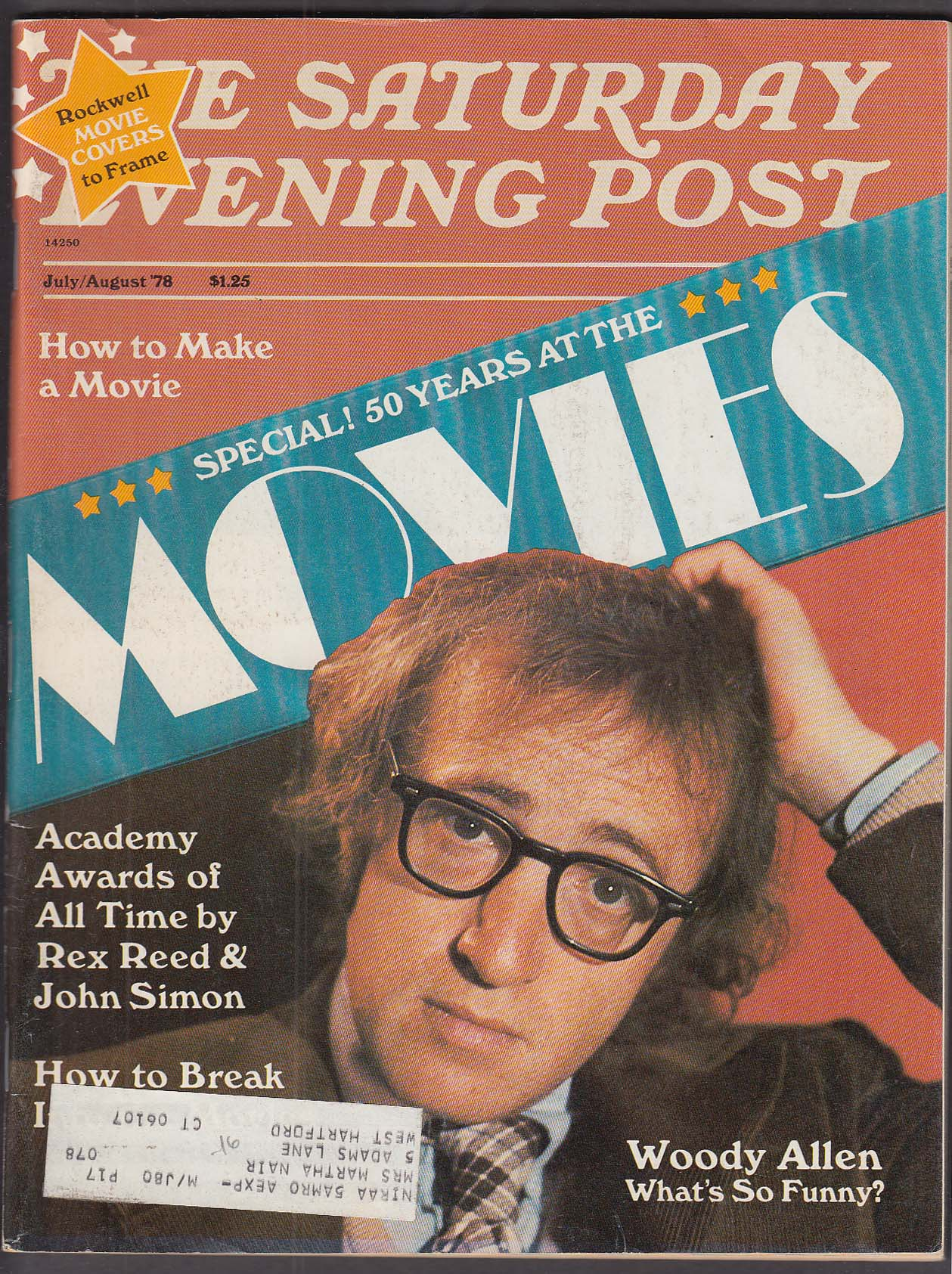 Image for SATURDAY EVENING POST Woody Allen Academy Awards 7-8 1978