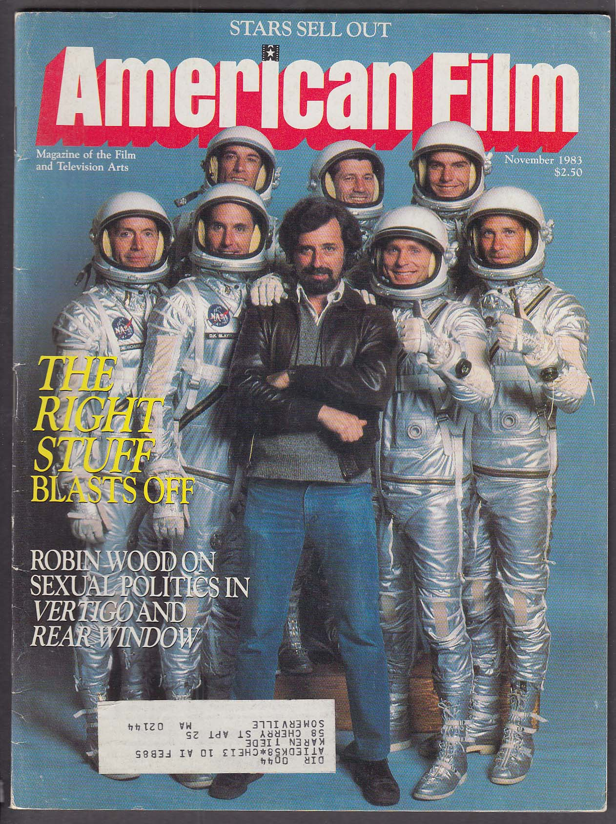 Image for AMERICAN FILM Philip Kaufman Right Stuff Robin Wood Hitchcock + 11 1983