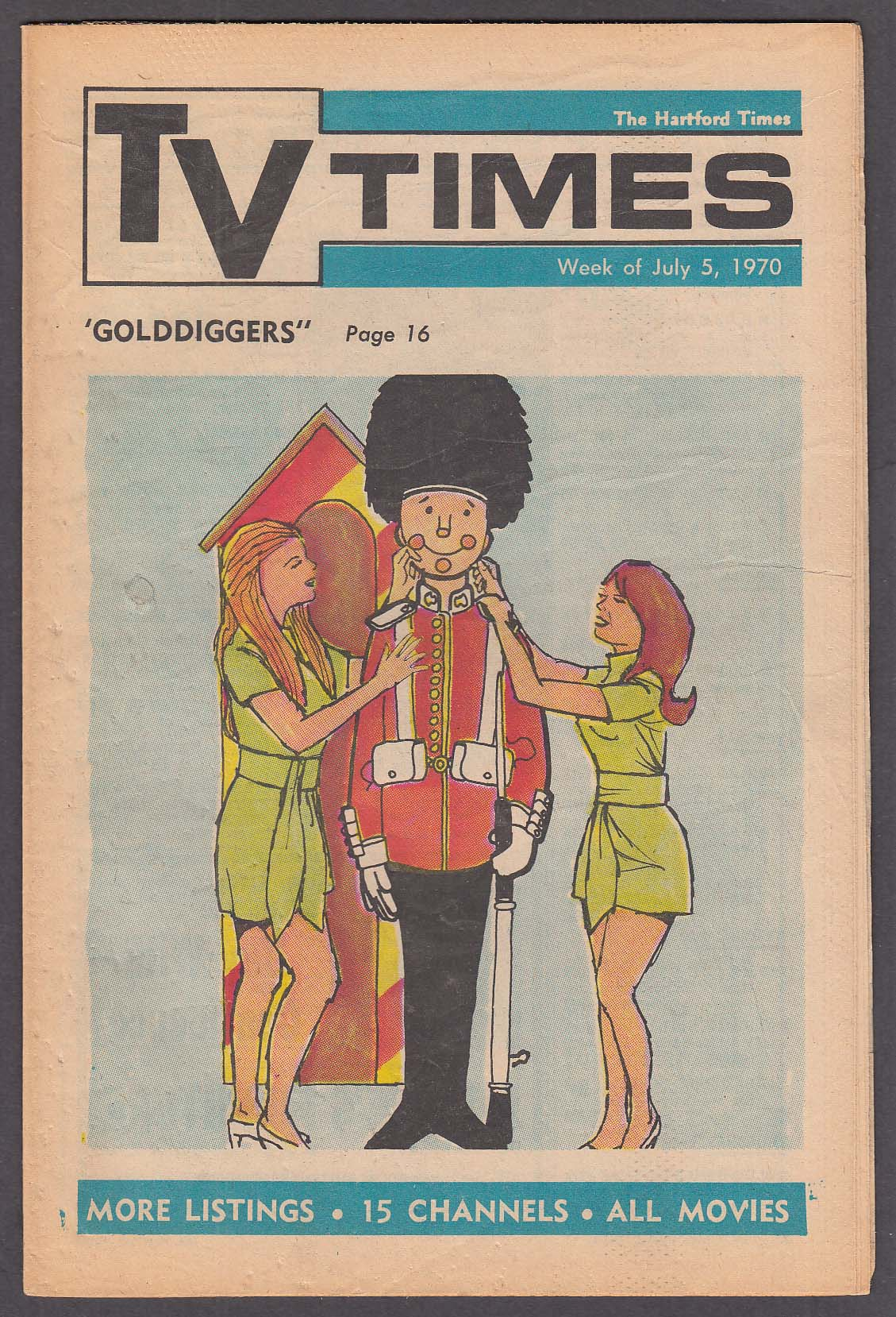 Image for TV TIMES David Frost, Golddiggers, Joanne Worley 7/5 1970 Hartford Times