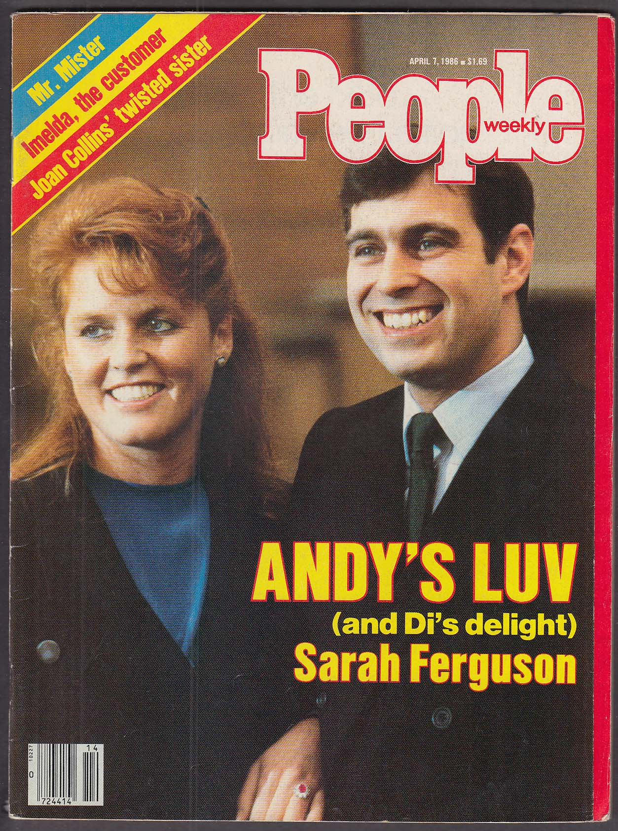 Image for PEOPLE Sarah Ferguson Prince Andrew 4/7 1986