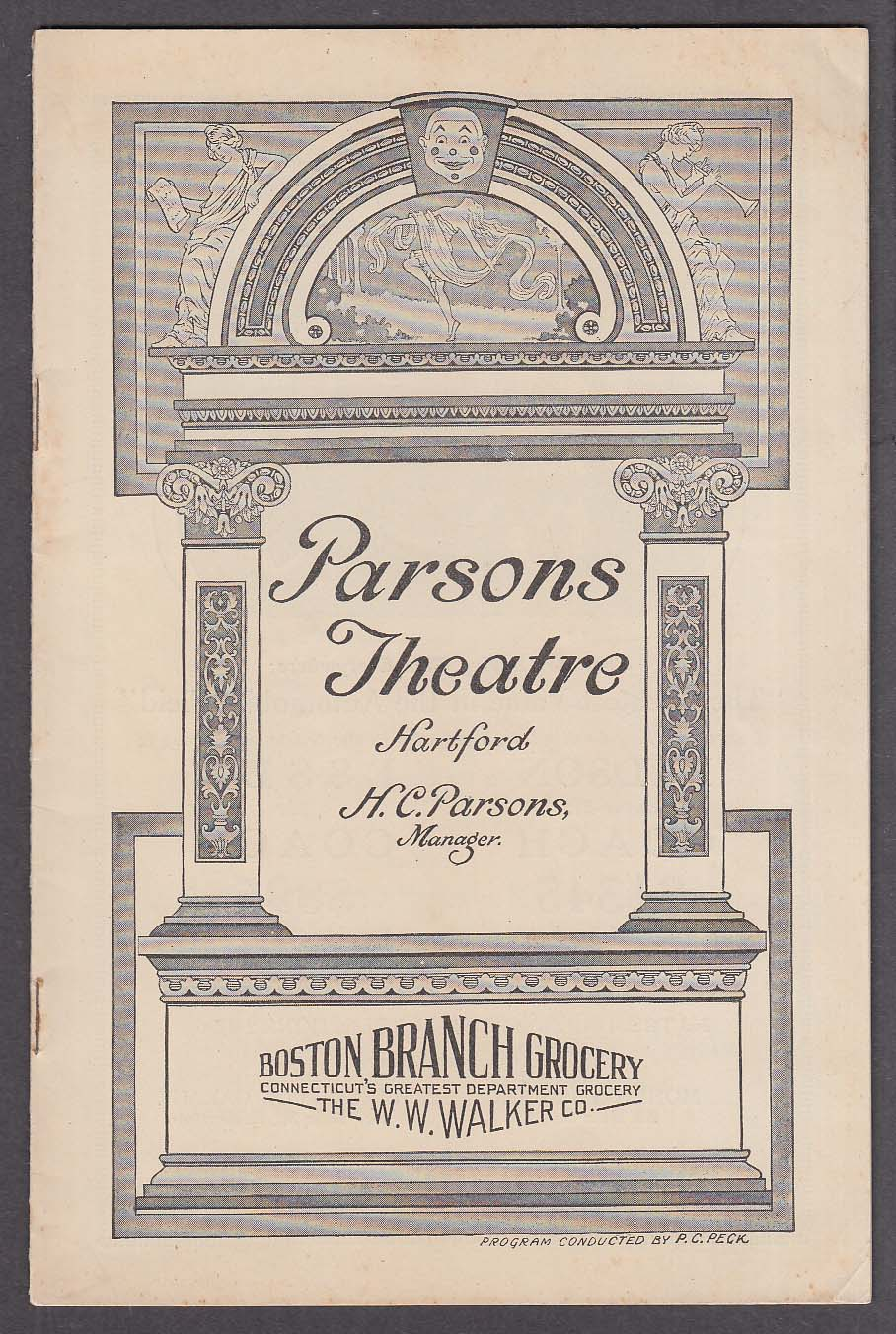 Image for Parsons Theatre program Hartford CT 1/8 1925