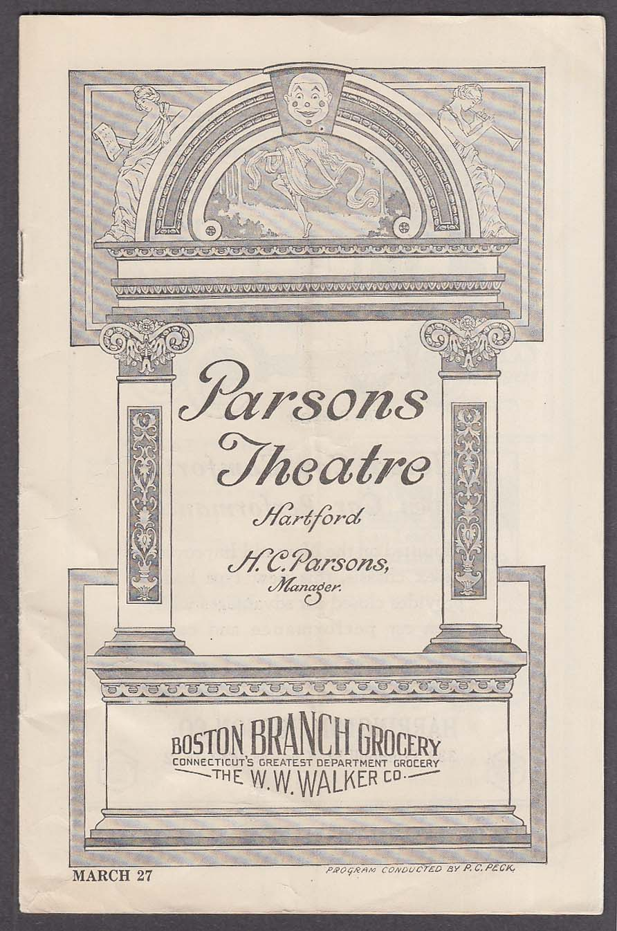 Image for Parsons Theatre Hartford CT program 3/27/1922