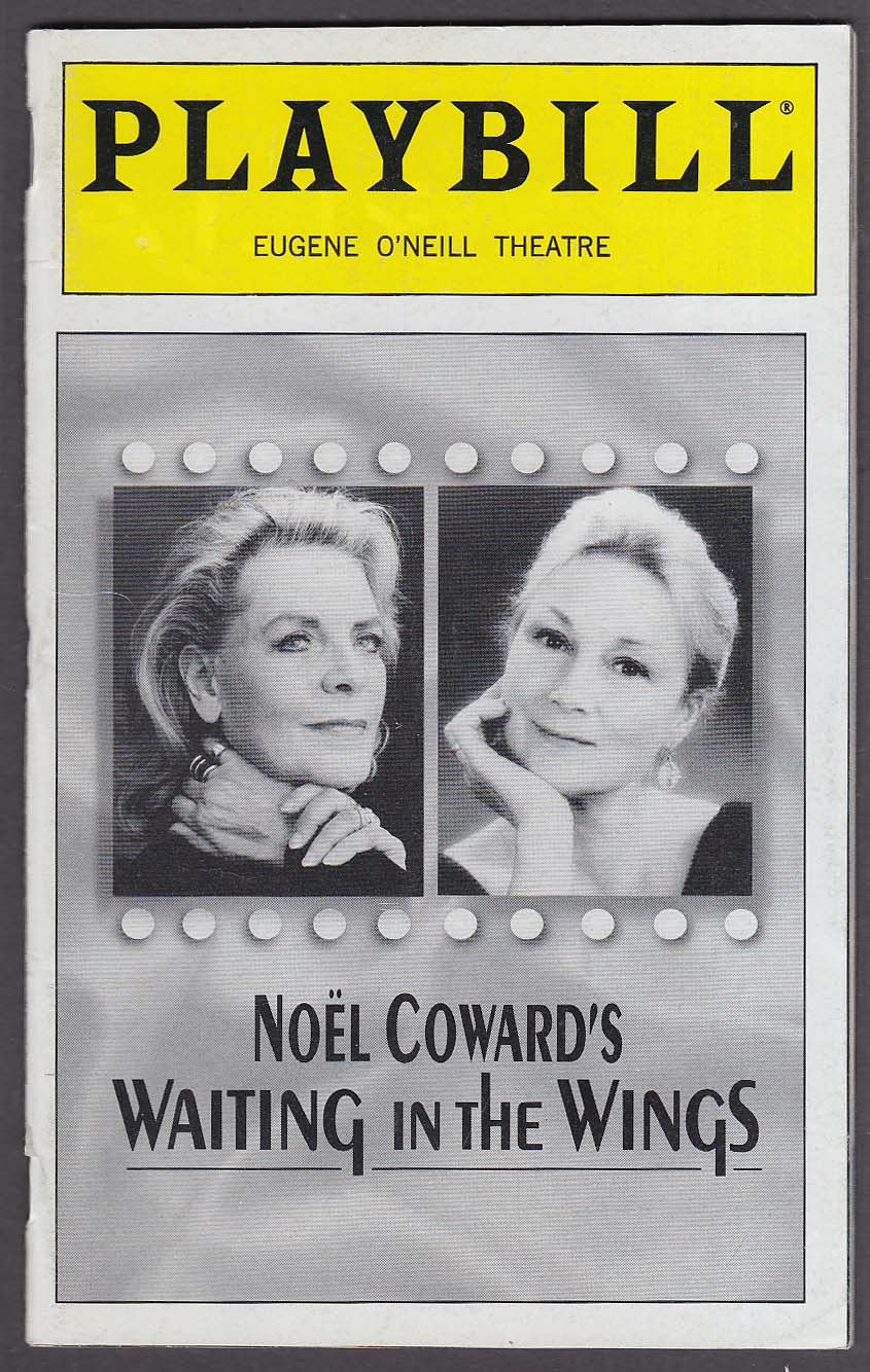 Image for Lauren Bacall Waiting in the Wings Playbill NYC 2000