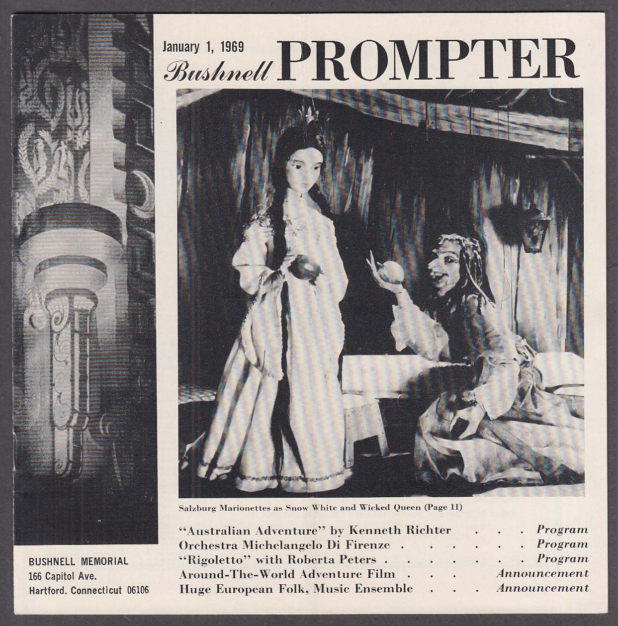Image for Roberta Peters Rigoletto Bushnell Prompter 1/1969 CT