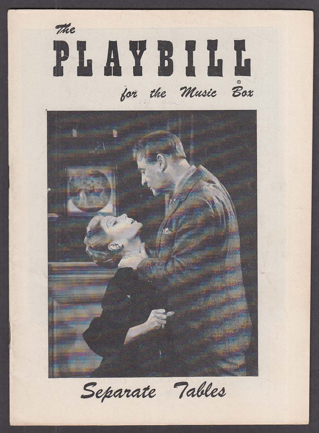 Image for Margaret Leighton Separate Tables Playbill 1957