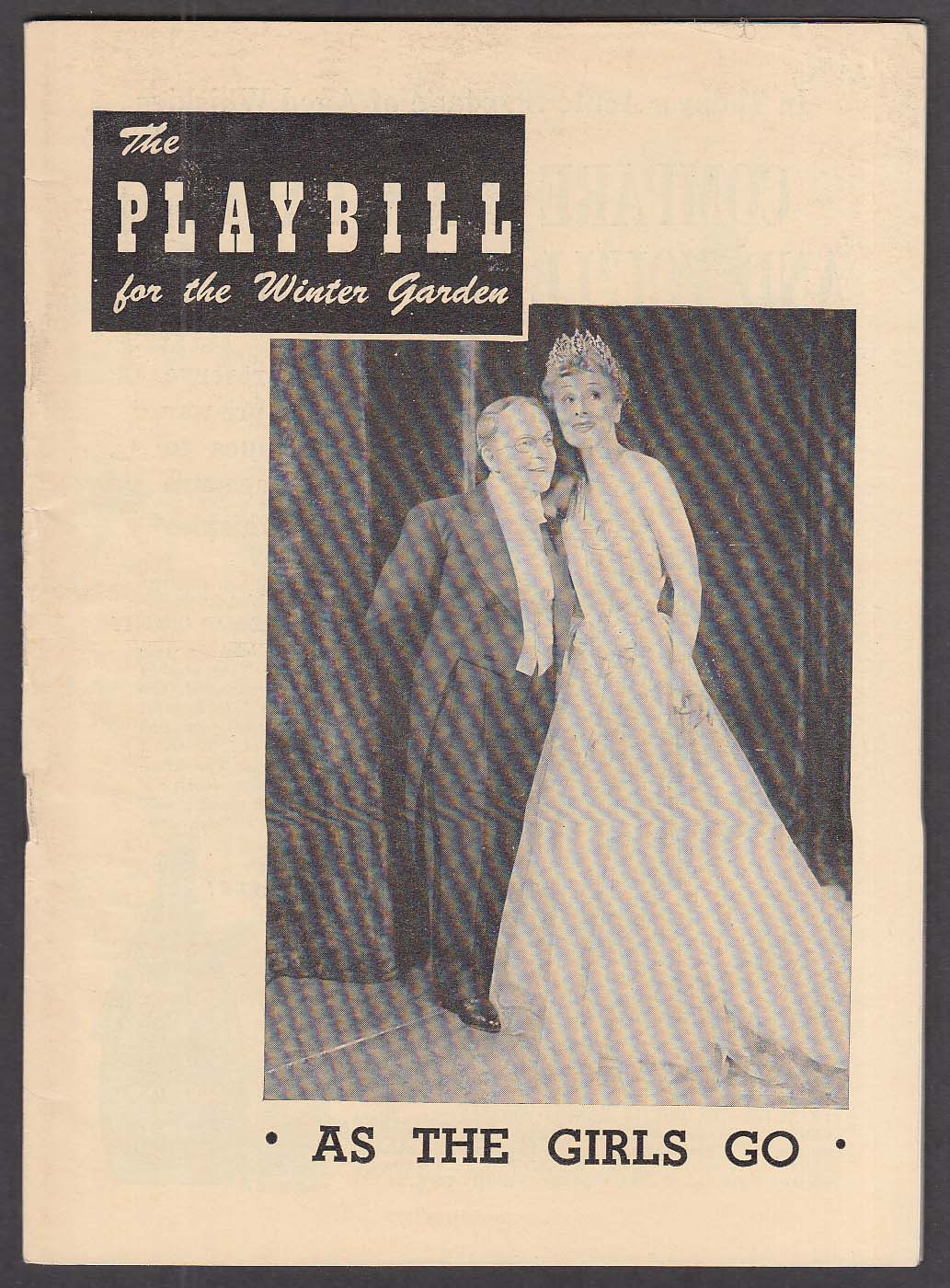 Image for Bobby Clark As The Girls Go opening week Playbill 1948