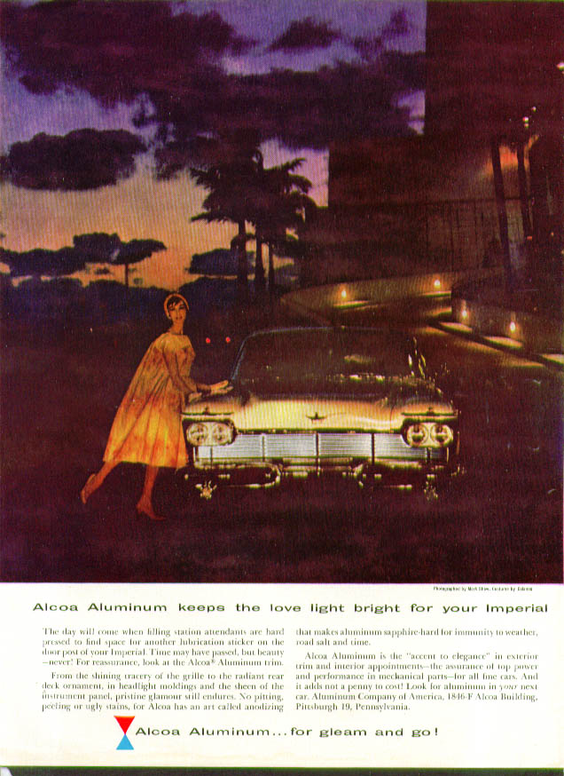 Image for Alcoa Aluminum keeps love light bright for Imperial ad 1958