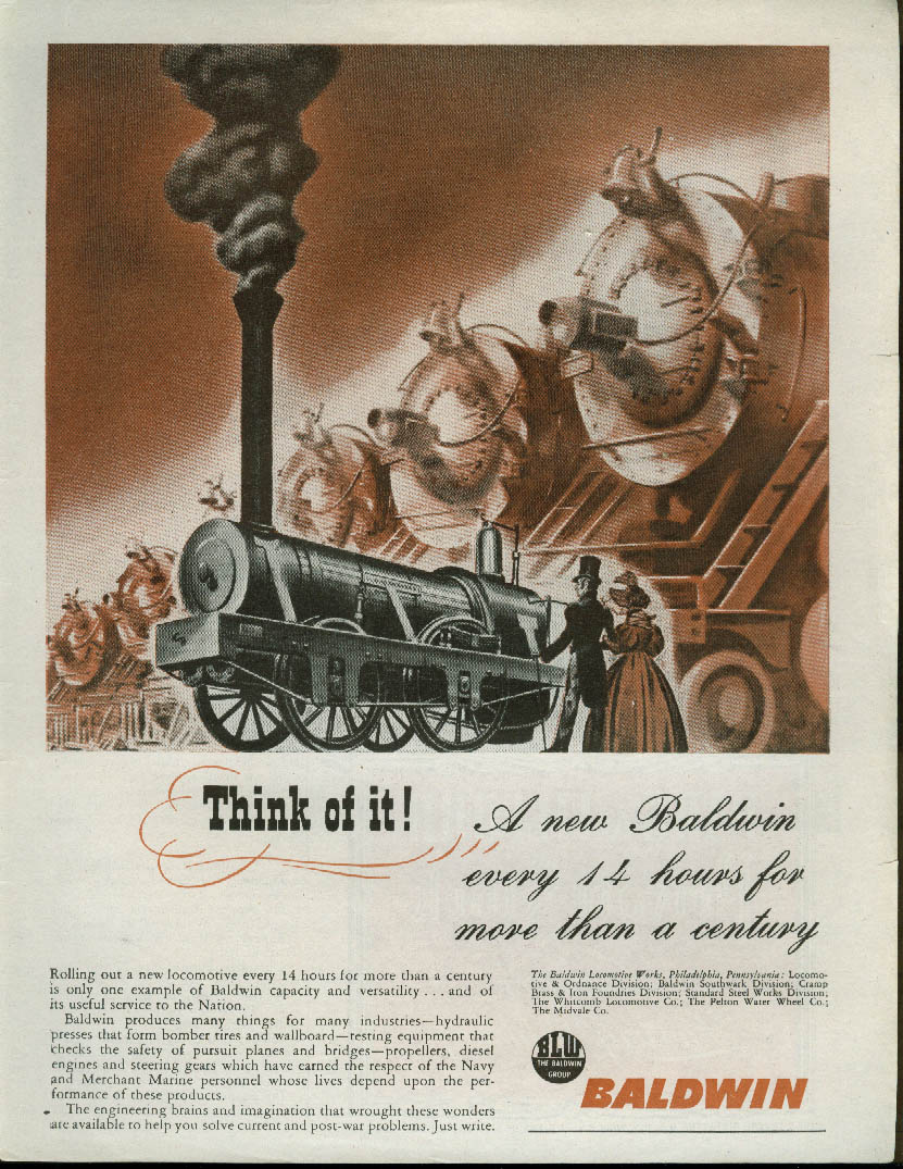 Image for A new Baldwin locomotive every 14 hours for more than a century ad 1945