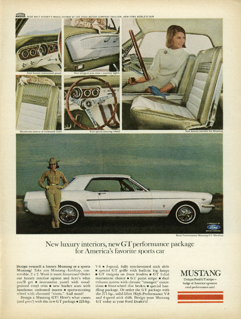 Image for New luxury interiors new GT Performance Package Mustang ad 1965