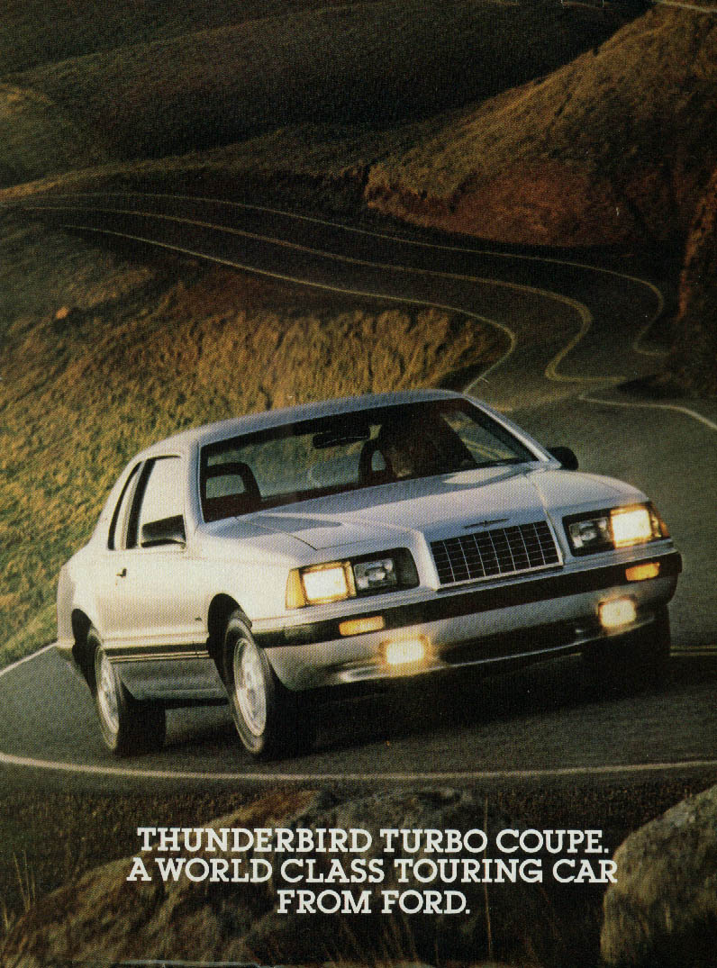 Image for Thunderbird Turbo Coupe - world class touring car ad 1983