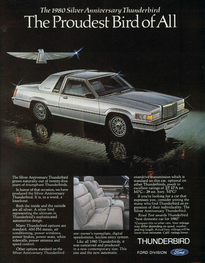 Image for Proudest Bird of All - The Silver Anniversary Thunderbird ad 1980