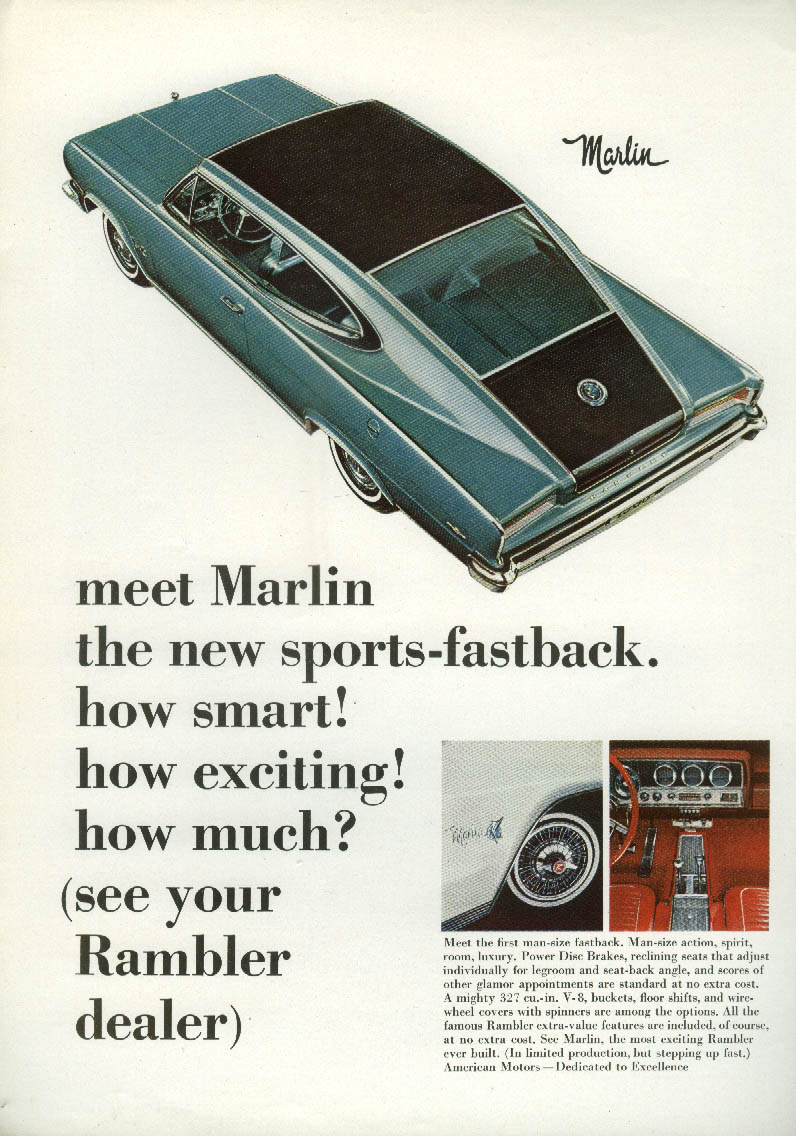 Image for How smart! How exciting! How much? AMC Marlin ad 1965 NY