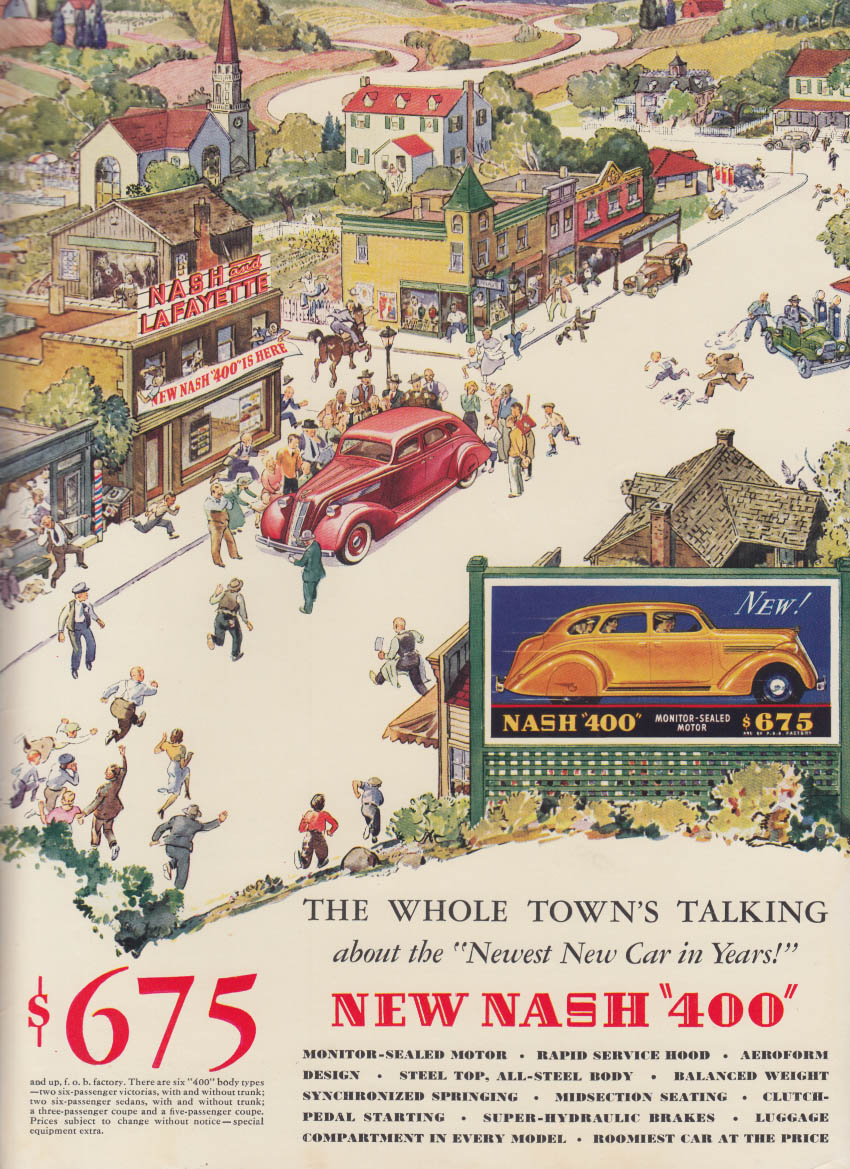 Image for The Whole Town's Talking about the new Nash 400 ad 1935 NY