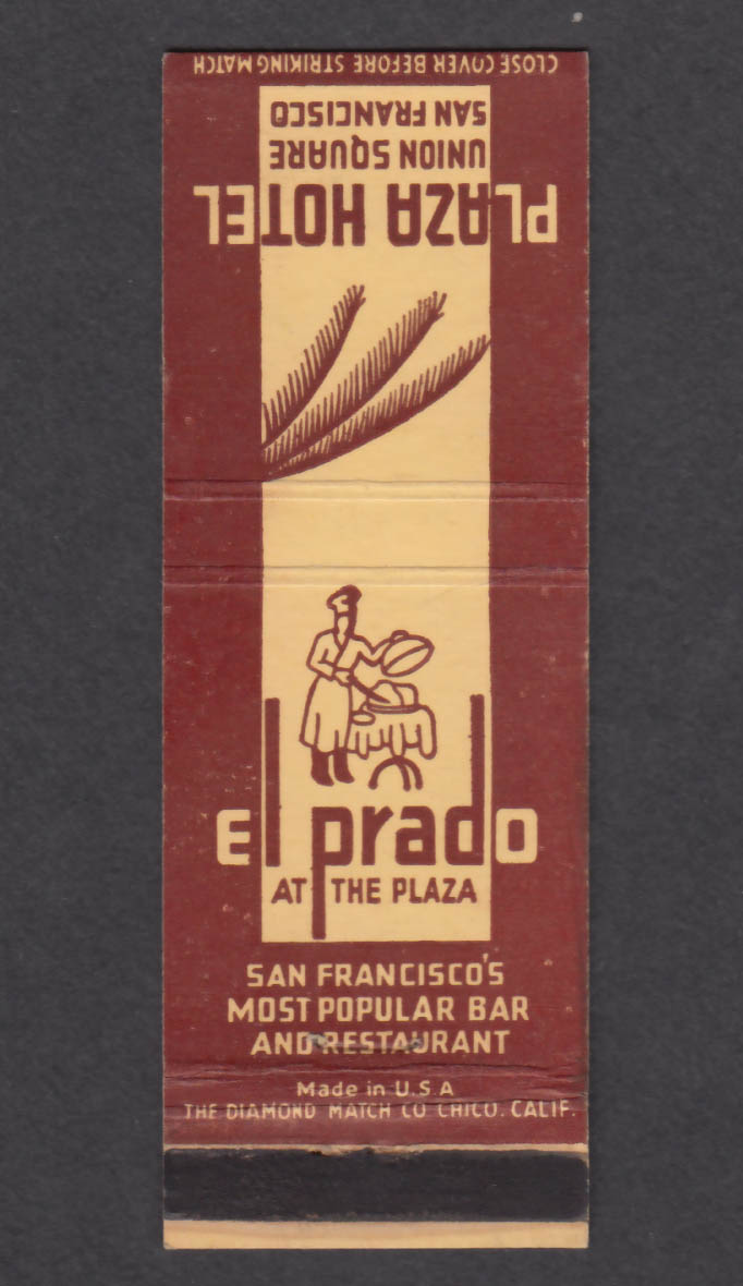 Image for El Prado Plaza Hotel Union Square San Francisco CA matchcover