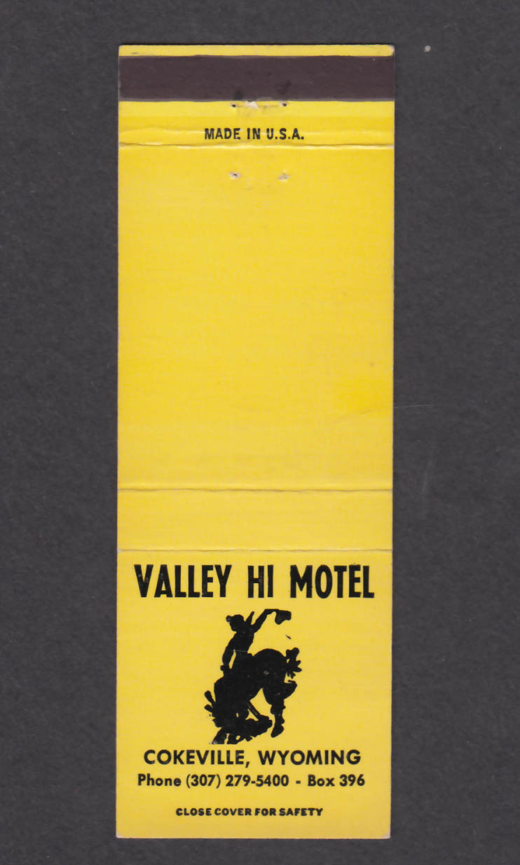 Image for Valley Hi Motel Cokeville Wyoming matchcover