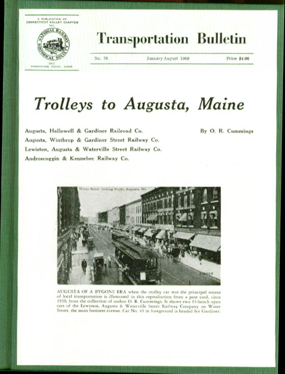 Image for Trolleys to Augusta ME TRANSPORTATION BULLETIN #76