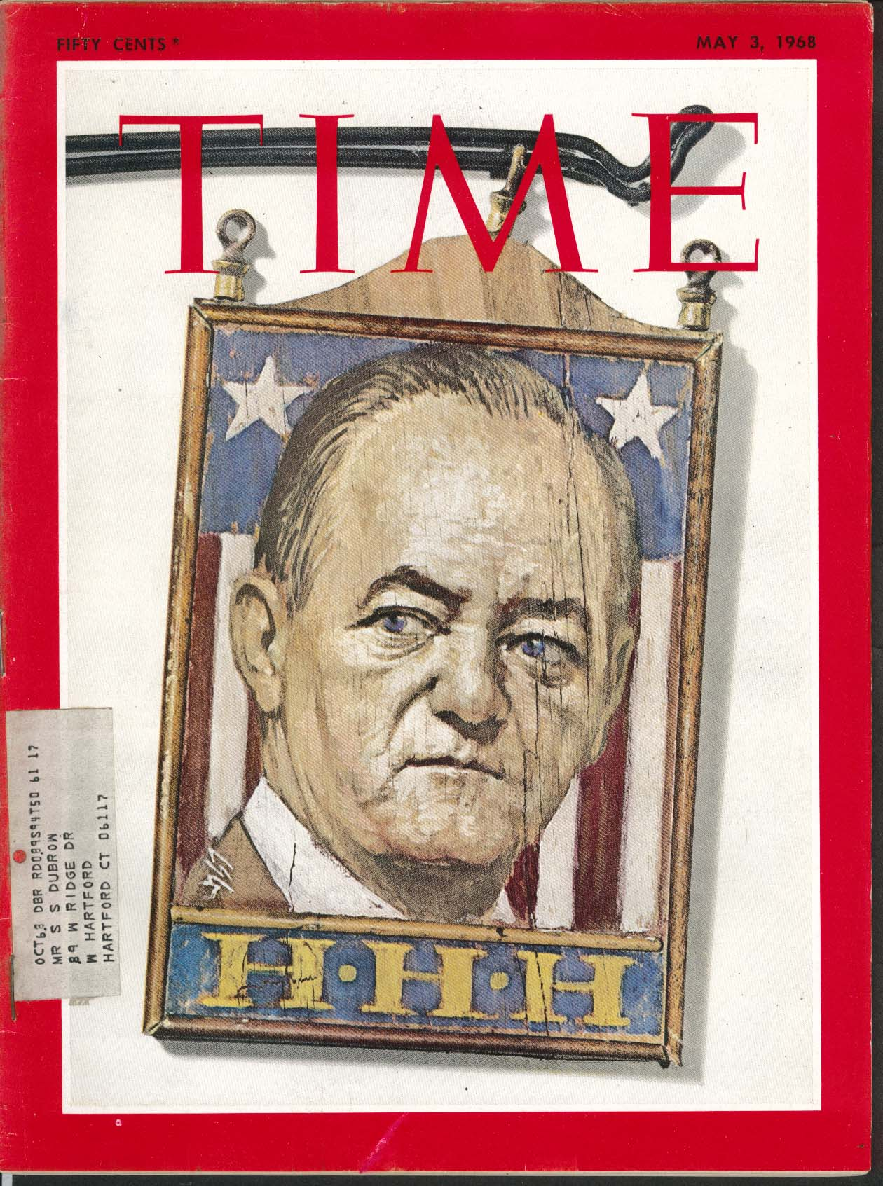 Image for TIME Hubert Humphrey Vietnam Viet Cong Israel 20th Anniversary 5/3 1968