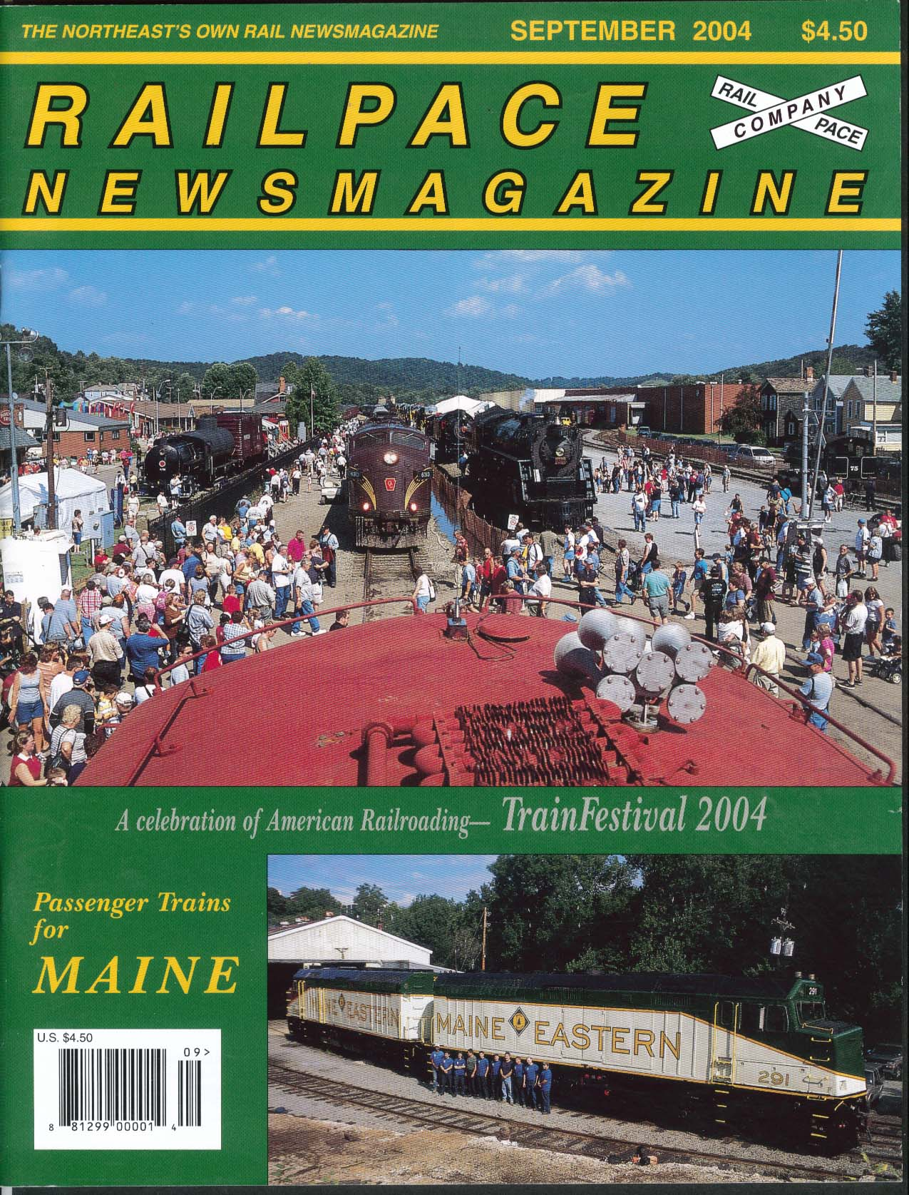 Image for RAILPACE TrainFestival Passenger Trains Maine Amtrak Genesee & Wyoming 9 2004