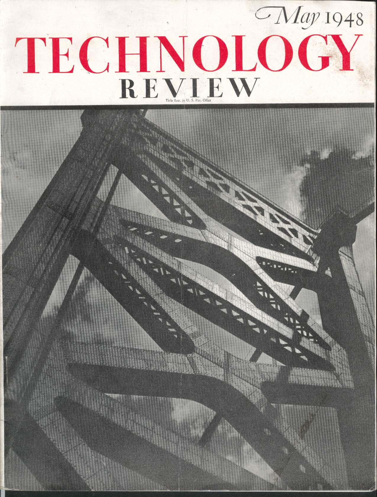 Image for TECHNOLOGY REVIEW Massachusetts Institute peacetime training textile ++ 5 1948