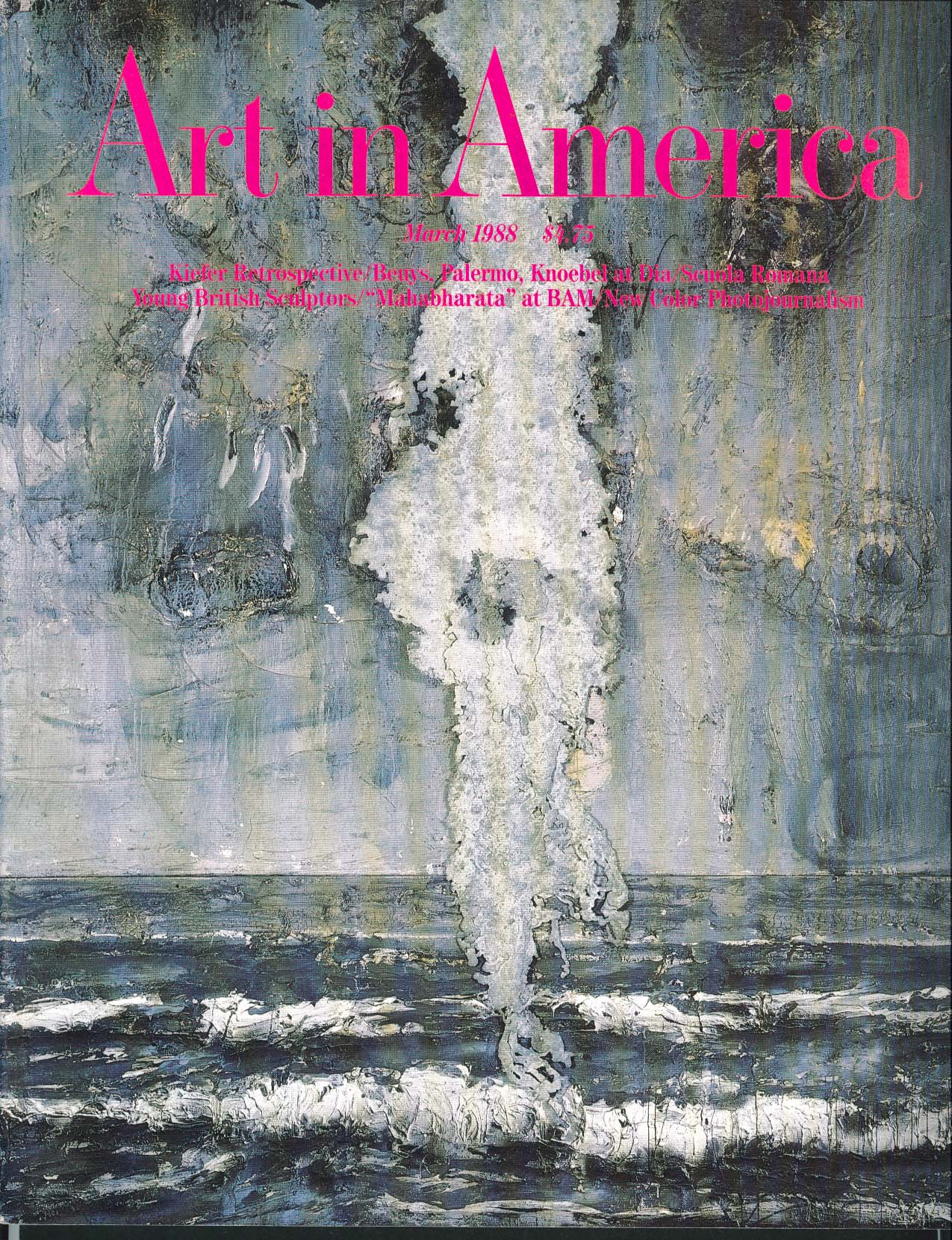 Image for ART IN AMERICA Kiefer Beuys Palermo Knoebel Dia Sculoa Romana Mahabharata 3 1988