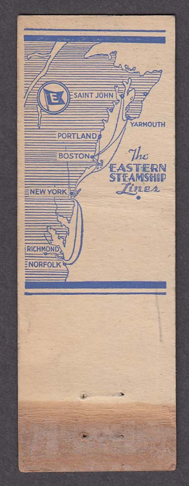 Image for Eastern Steamship Lines Boston & New York route map matchcover
