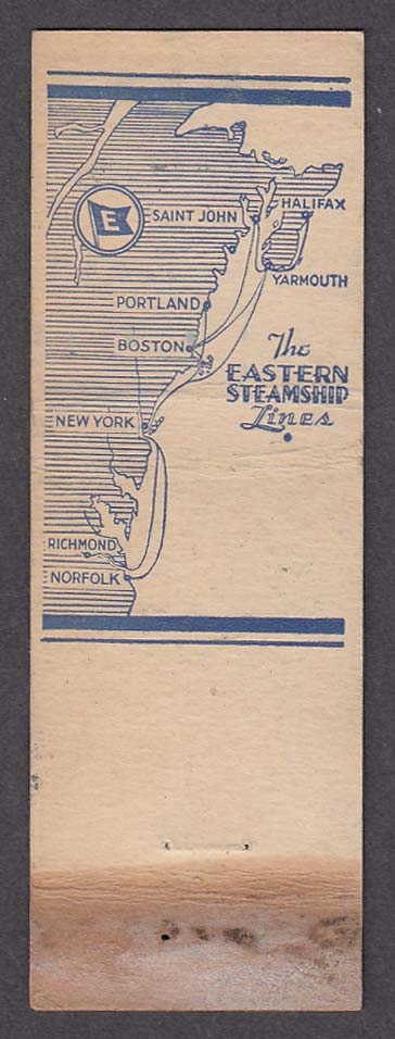 Image for Eastern Steamship Lines New York & Boston route map matchcover