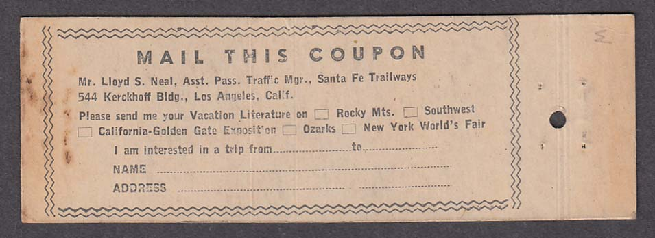 Image for Santa Fe Trailways Buses Nite & Day Coaches matchcover