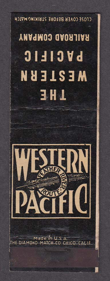 Image for Western Pacific Railroad Company Feather Route matchcover