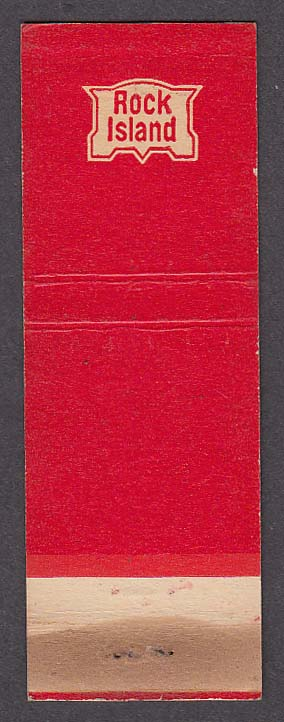 Image for Rock Island Railroad red matchcover