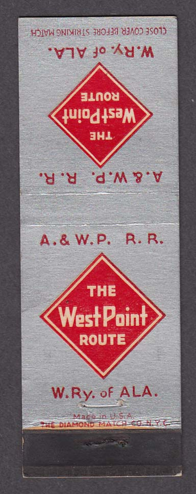 Image for The West Point Route A&WP RR matchcover