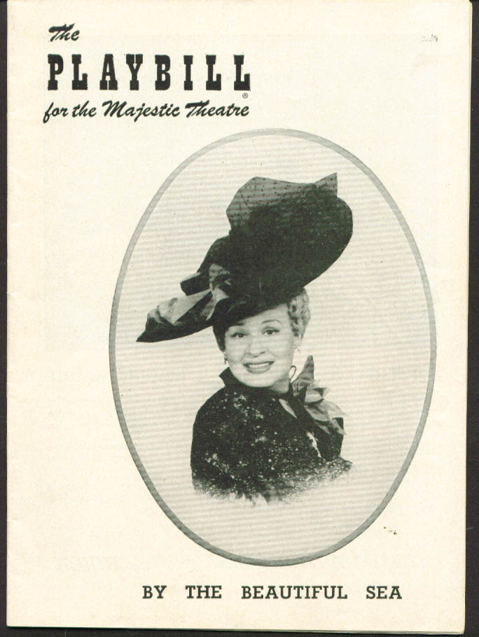 Image for Shirley Booth By the Beautiful Sea Playbill 1954