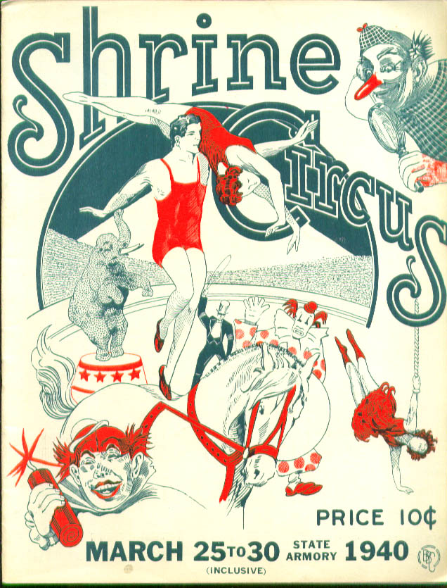 Image for Shrine Circus Program Hartford CT 1940