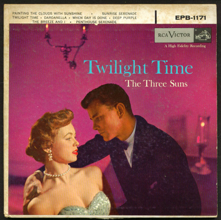 Image for The Three Suns Twilight Time 45rpm record set 1956