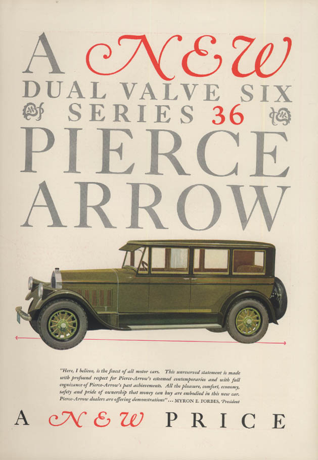 Image for A new dual valve six Series 36 Pierce-Arrow Sedan ad 1927 T&C